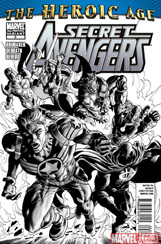 Secret Avengers #2 2nd Printing Sketch Variant